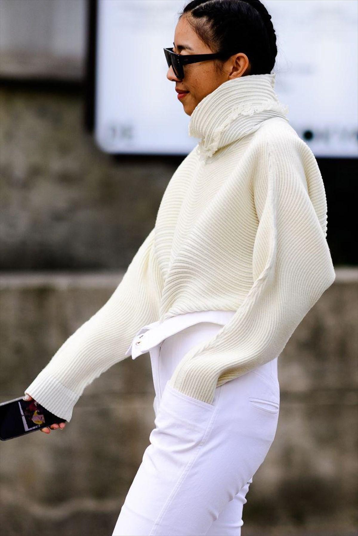 330396e9ca96 Πώς φοράμε λευκό τον χειμώνα και στις γιορτές