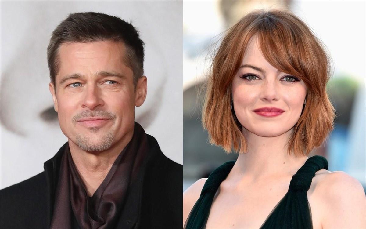 """Résultat de recherche d'images pour """"Brad Pitt Emma Stone Damien Chazelle"""""""